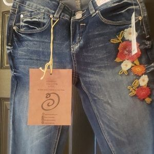 Indigo Rein Embroidery Jeans